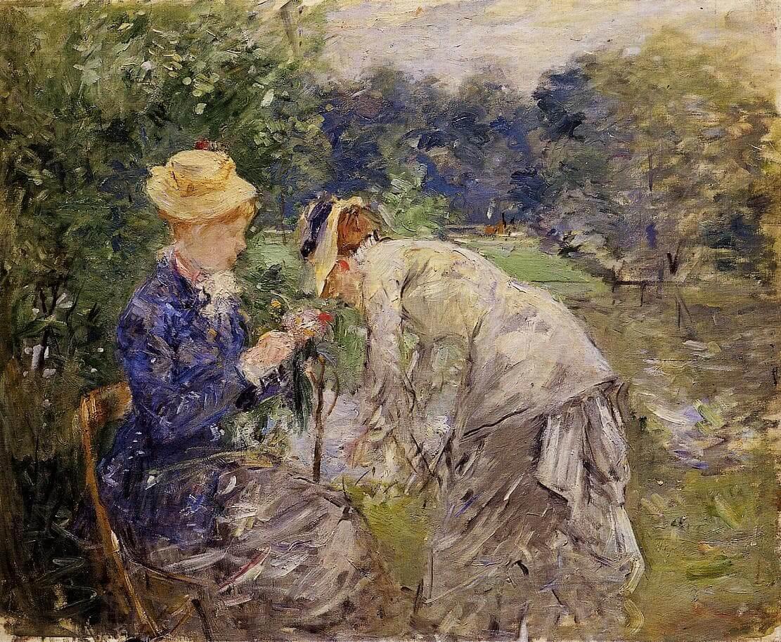 """""""Im Bois de Boulogne"""" von Berthe Morisot"""